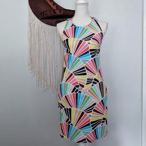 Trina Turk Bold Geometric Print Racerback Dress